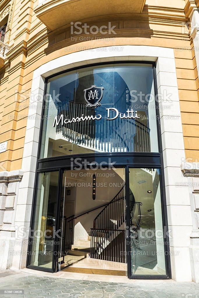 Massimo Dutti store in Barcelona stock photo