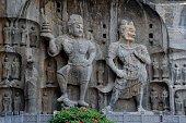 Massive Buddhist sculptures at Longmen Grottoes, Luoyang, Henan