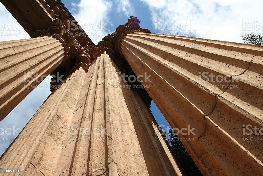 massive columns royalty-free stock photo