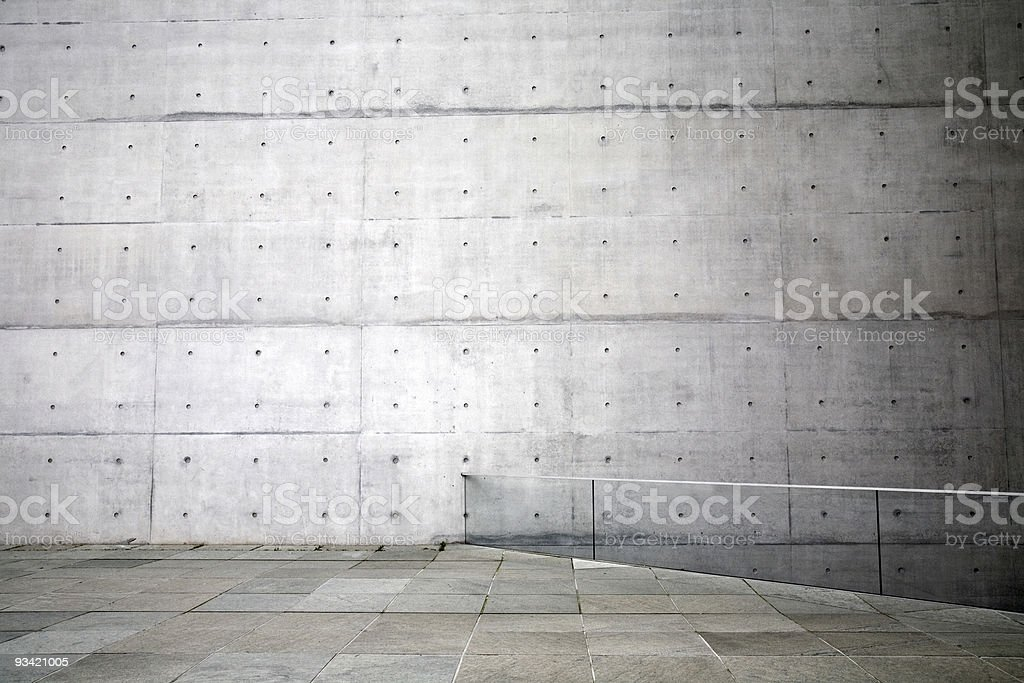 massive concrete wall royalty-free stock photo