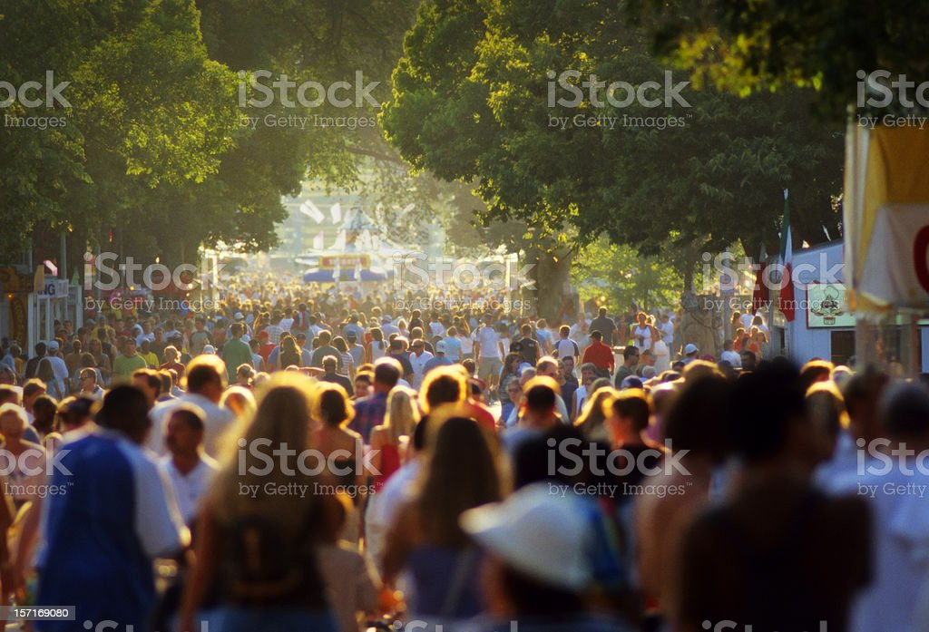 massive crowds at the fair royalty-free stock photo