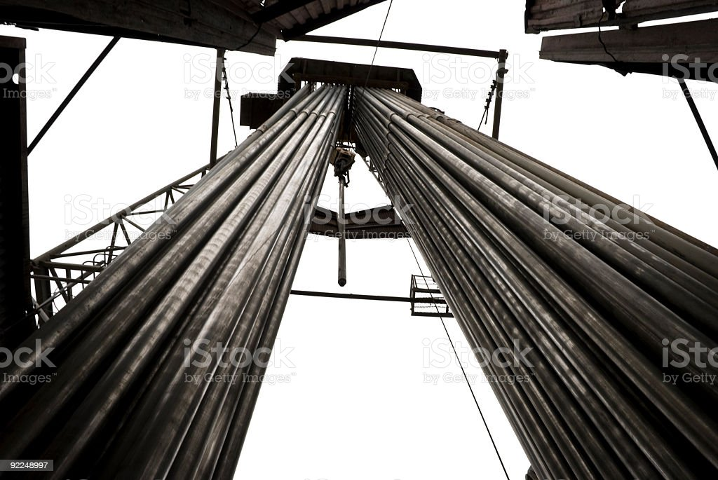 Massive Drilling pipe setbacks royalty-free stock photo