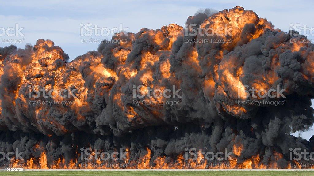 Massive Explosion and Fireball stock photo