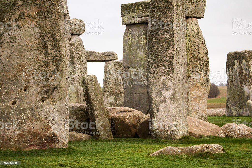 Massive monoliths at Stonehenge stock photo