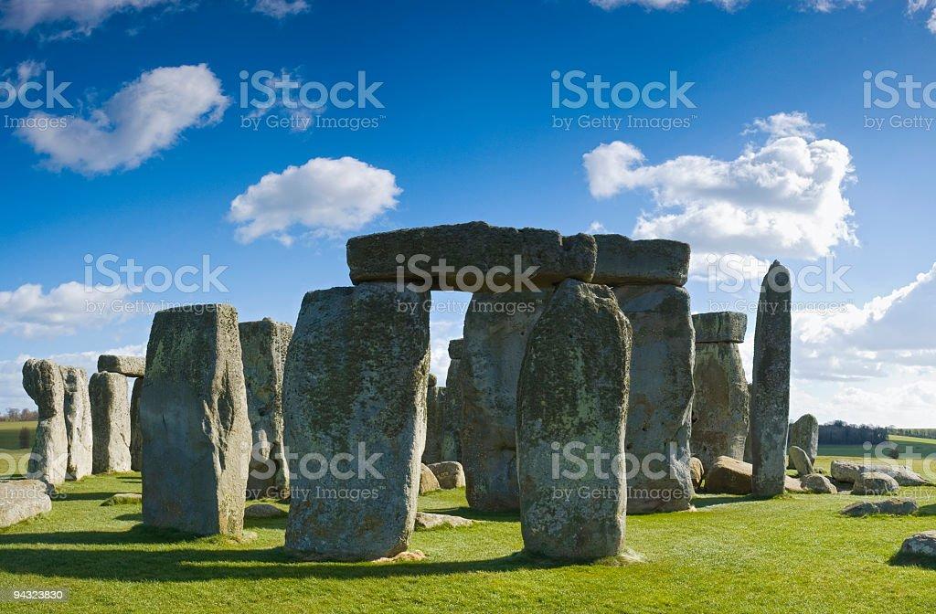 Massive monoliths at Stonehenge royalty-free stock photo