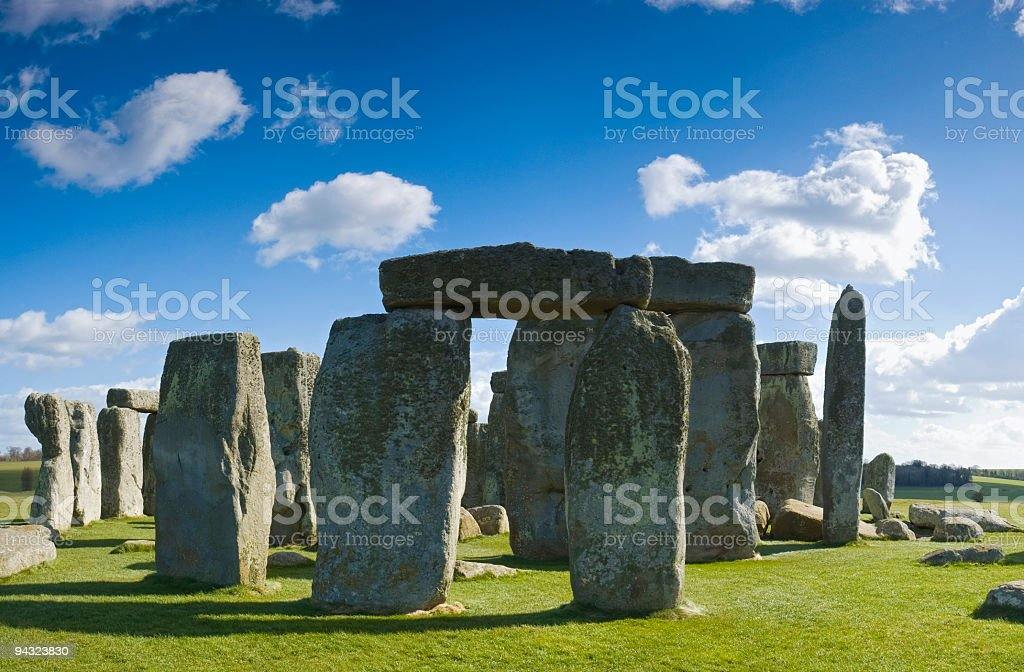 Massive monoliths at Stonehenge stock photo