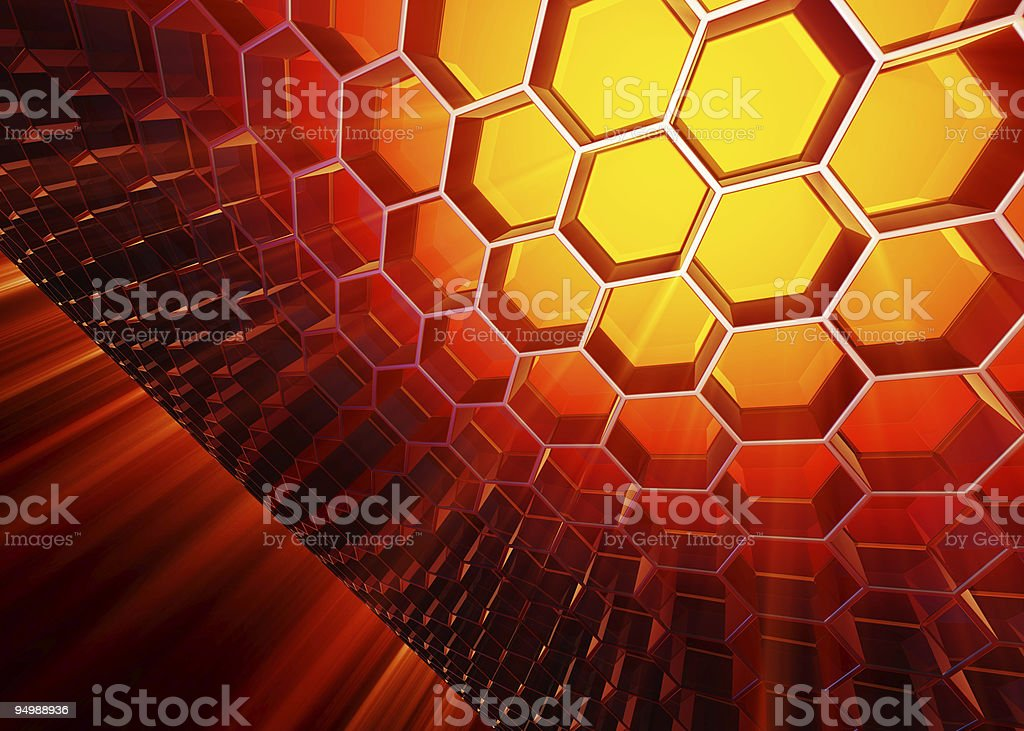 Massive of cells royalty-free stock photo