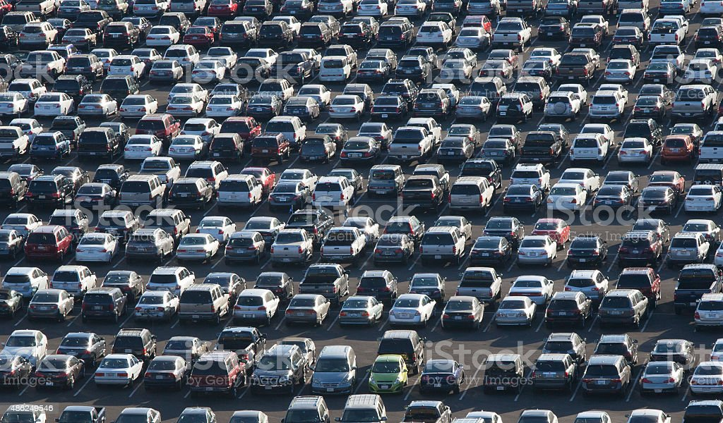 Massive Parking Lot stock photo