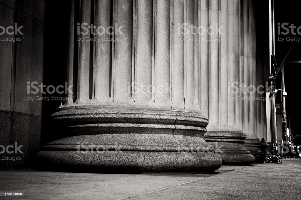 Massive Pillars at the Federal Reserve stock photo