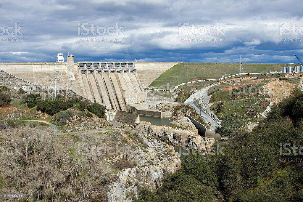 Massive Renovation Of Folsom Dam royalty-free stock photo