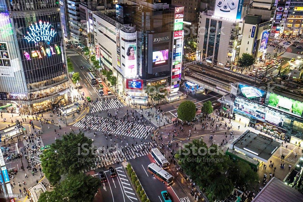 Massive Shibuya stock photo