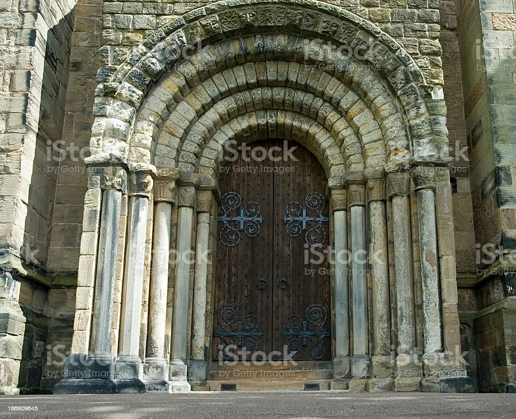 Massive Stone Doorway royalty-free stock photo