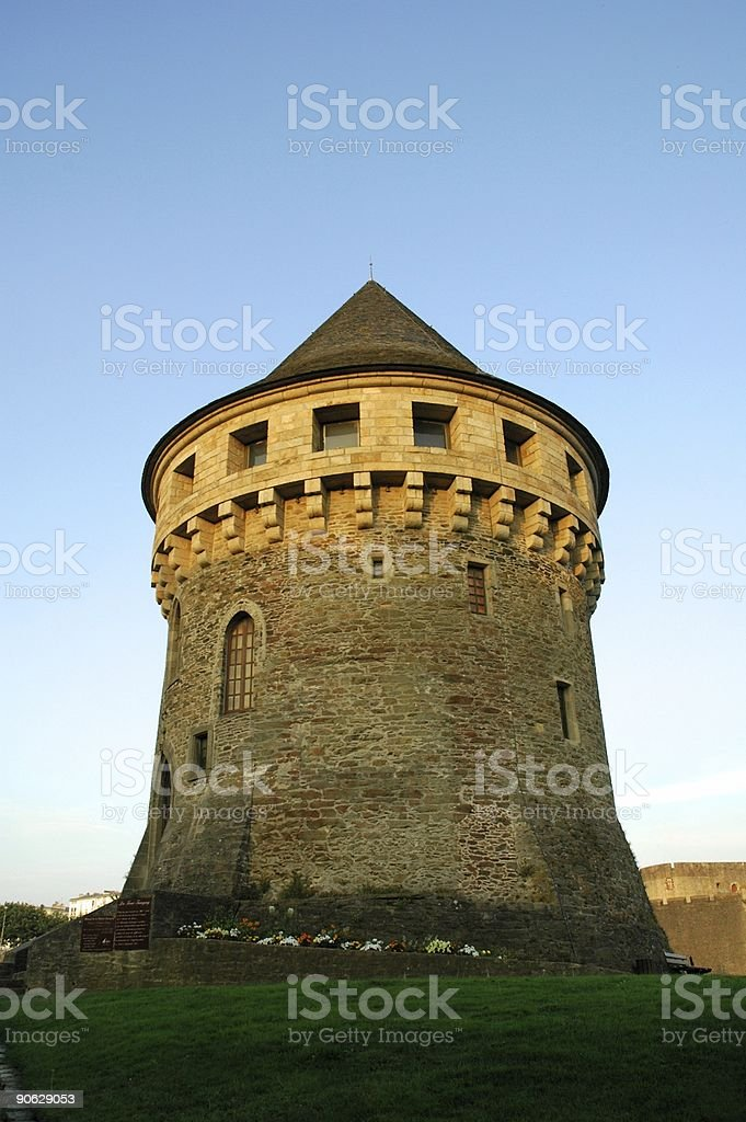 Massive tower stock photo