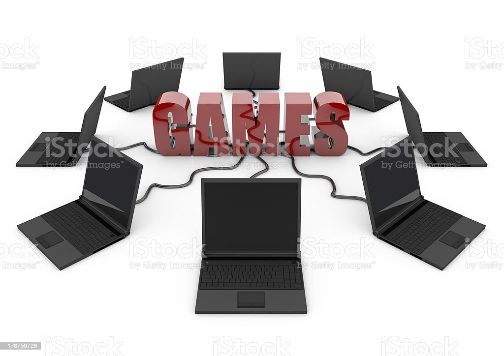 Massively Multiplayer Online Game Computer games royalty-free stock photo