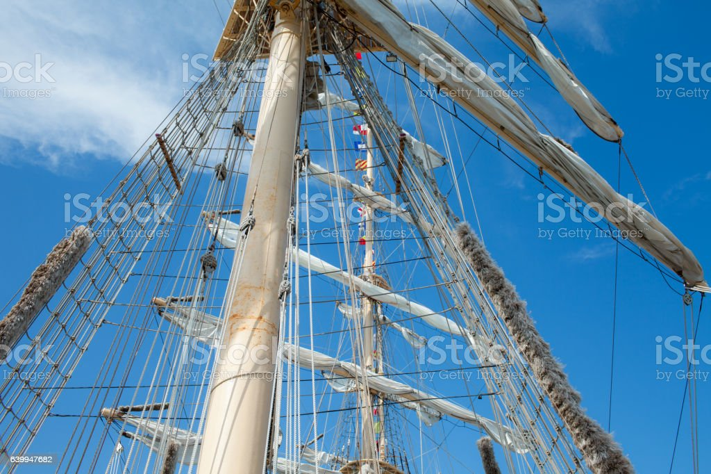Mast And Rigging stock photo