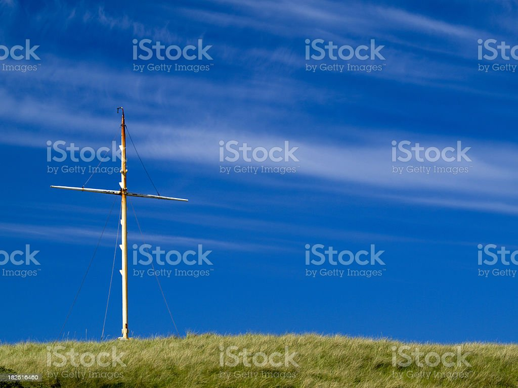 Mast from a ship stock photo