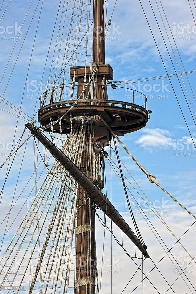 Mast, Galleon. Color Image stock photo
