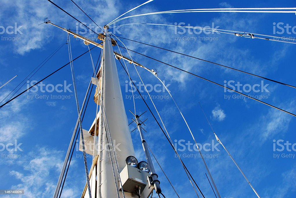 Mast in the Sky royalty-free stock photo