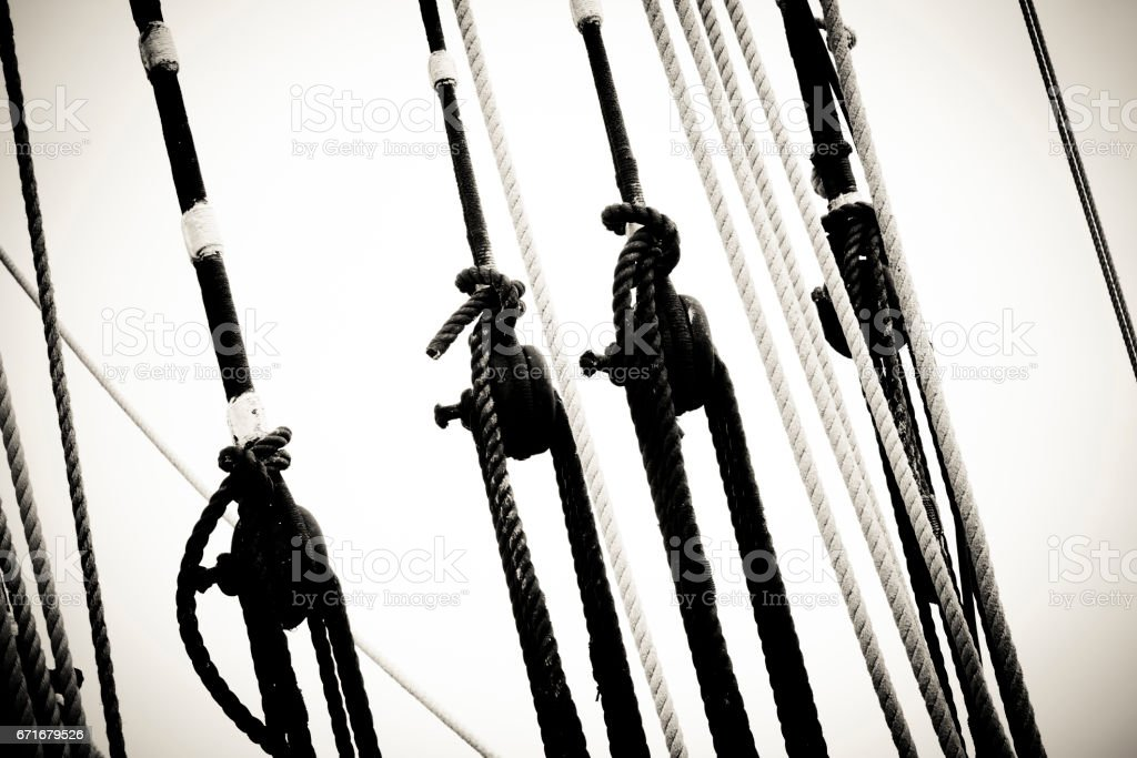 Mast Lines & Buckles stock photo