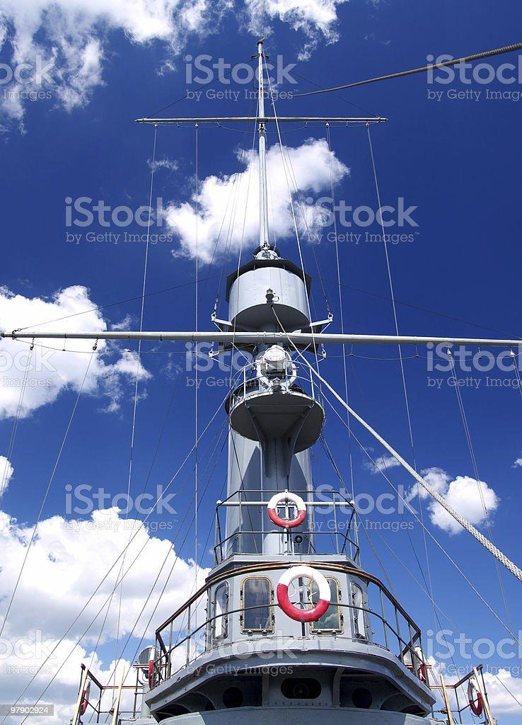 Mast of ship stock photo