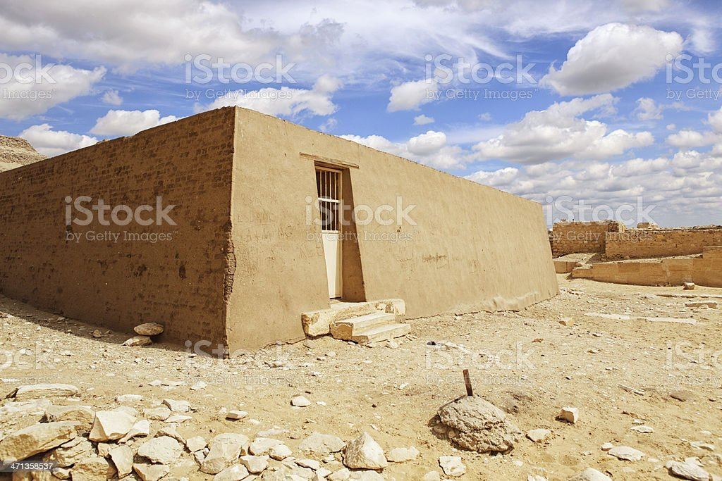 Mastaba Tomb at Pyramid Complex of Unas stock photo