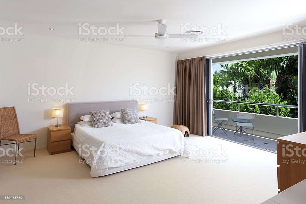 Master bedroom stock photo