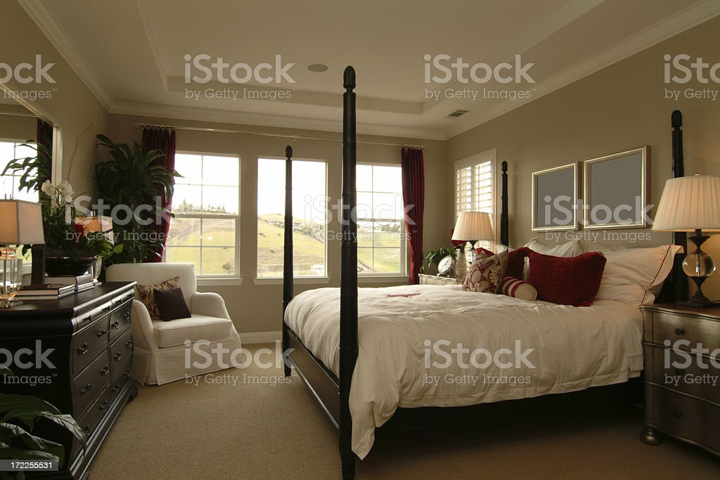 Master Bedroom Suite royalty-free stock photo