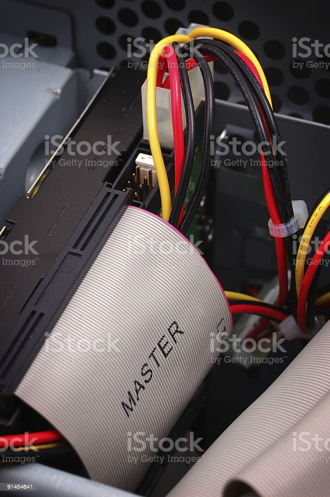 master hard drive cable stock photo