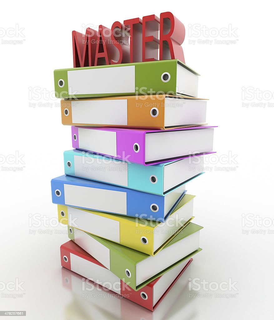 Master - Learning concepts stock photo