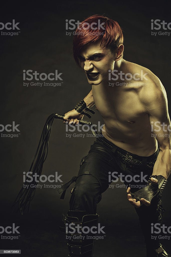 Master of endless pain stock photo