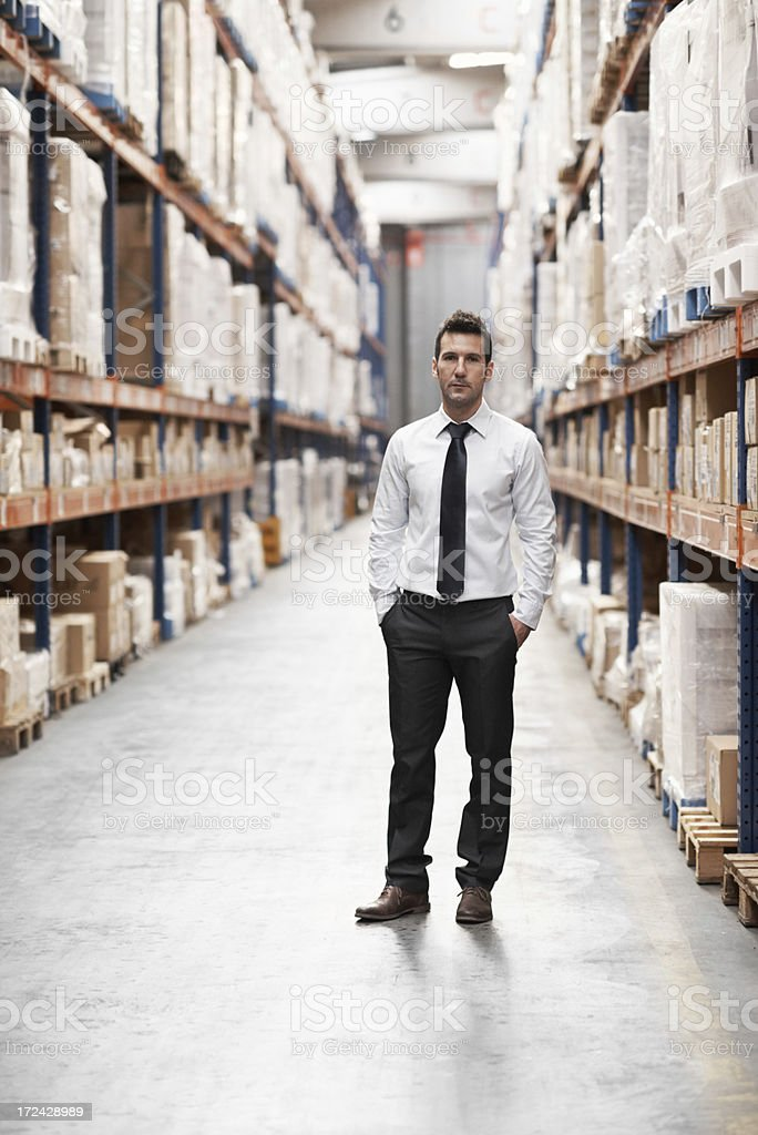 Master of his workplace royalty-free stock photo