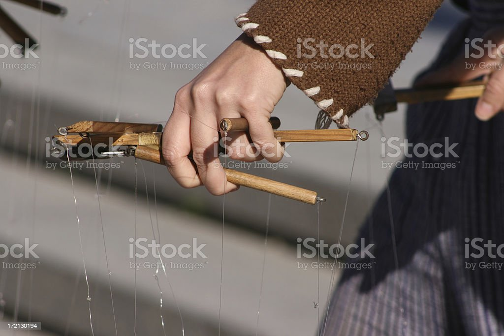Master of Puppets royalty-free stock photo