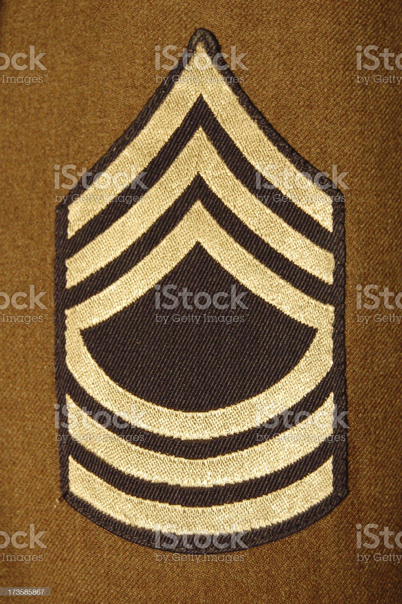 Master Sergeant. royalty-free stock photo