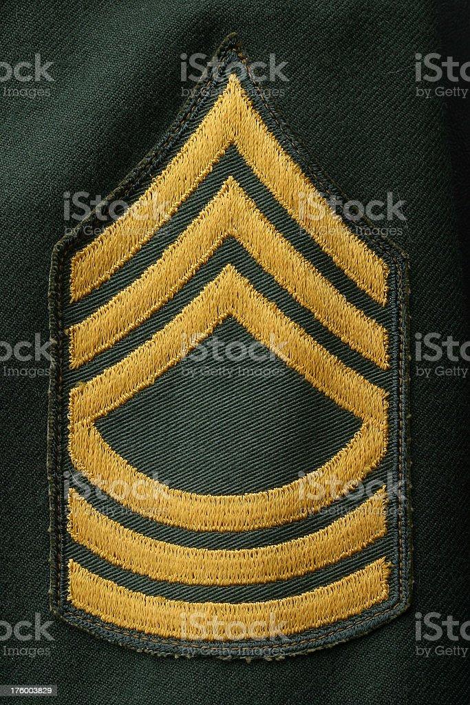 Master Sergeant royalty-free stock photo