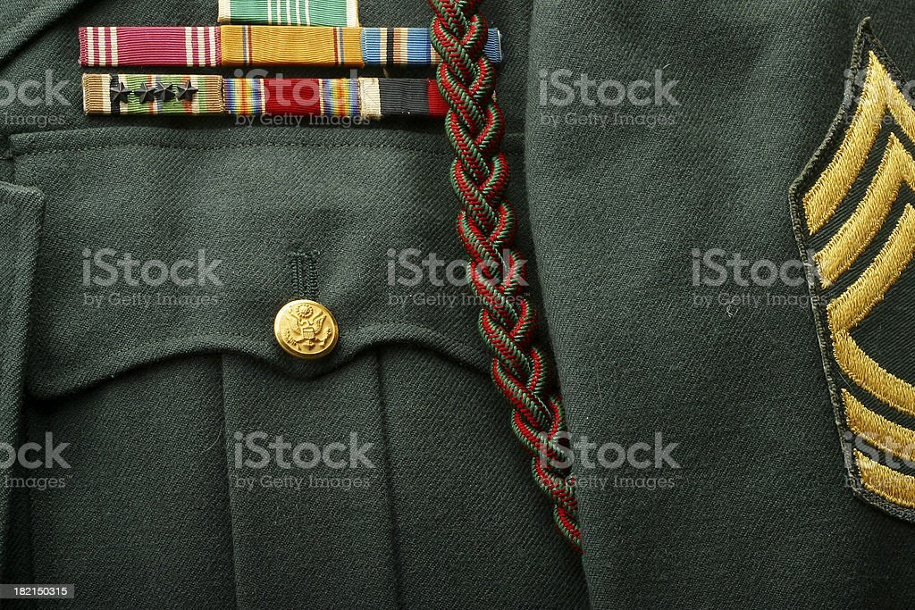 Master Sergeant Uniform stock photo