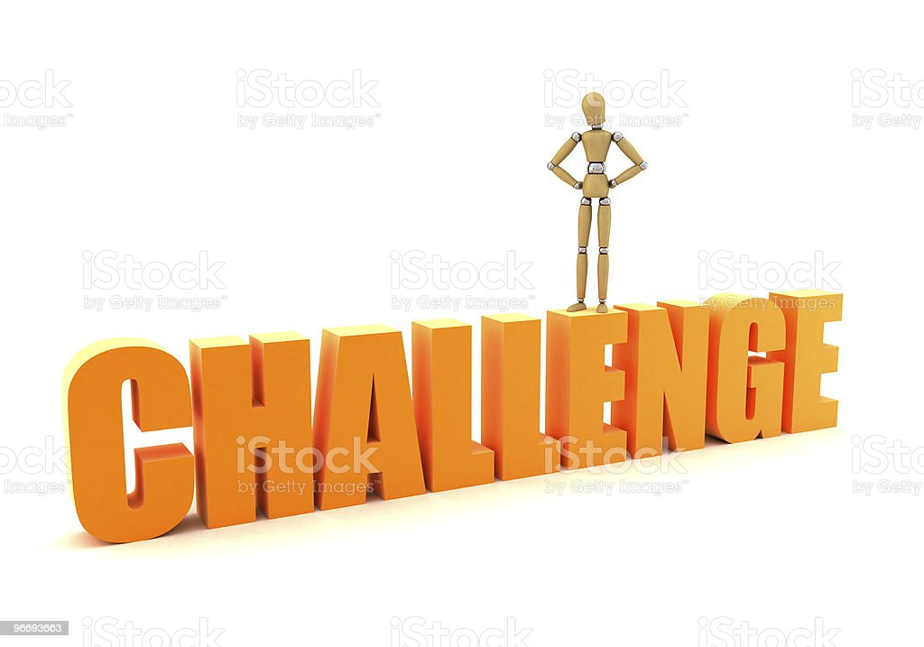 Master the challenge royalty-free stock photo
