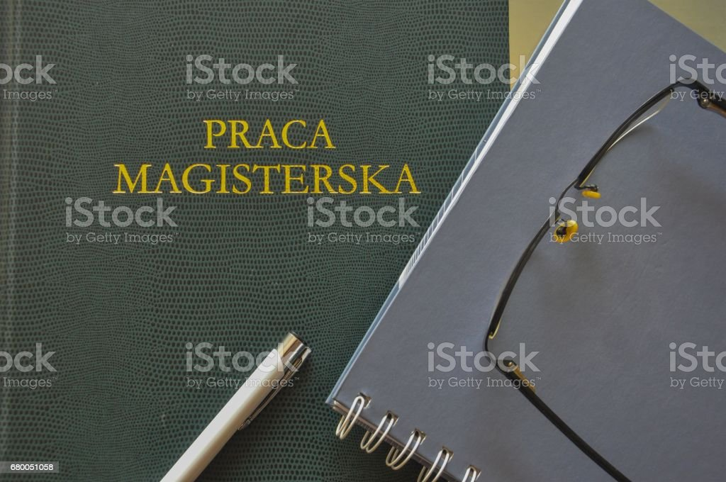 Master thesis will not be written by taking pictures of it stock photo