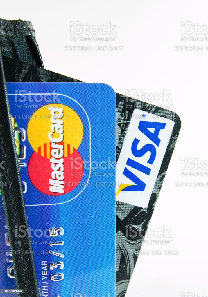 MasterCard and Visa stock photo