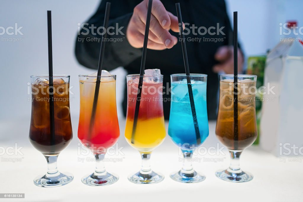 Masterful cocktails stock photo