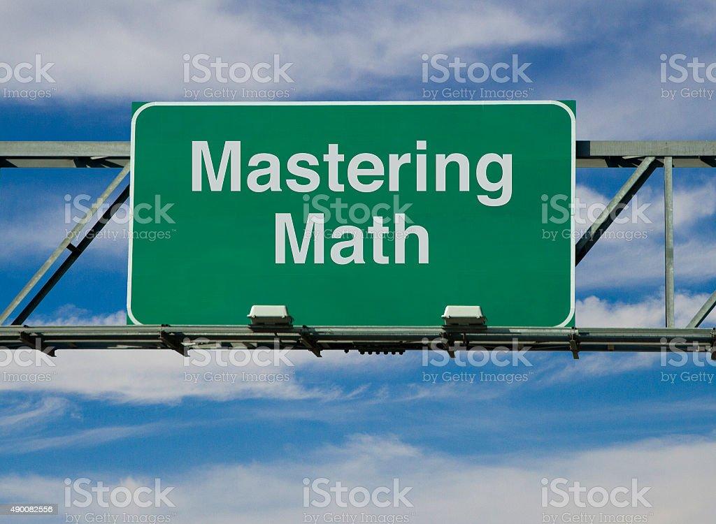 Mastering Math stock photo