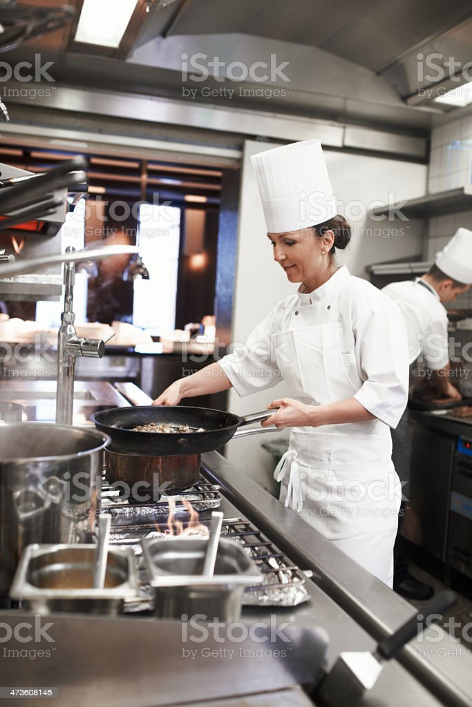 Mastering new culinary heights stock photo