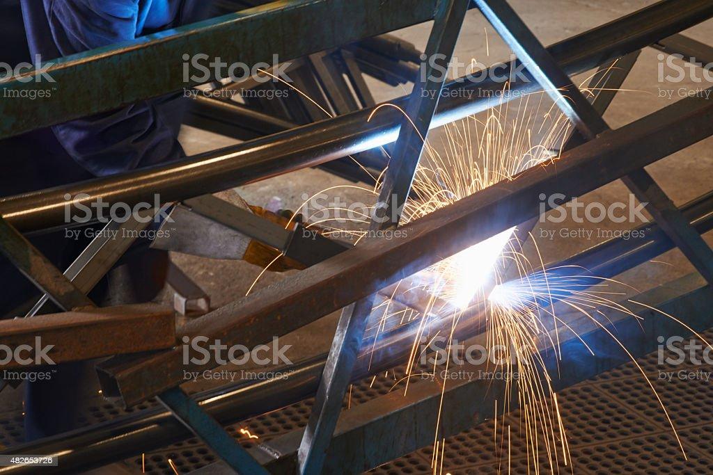 Mastering the arc welding trade stock photo