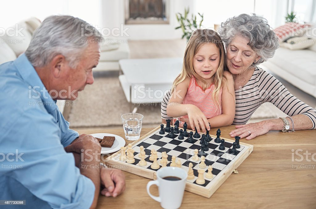 Mastering the game of chess stock photo