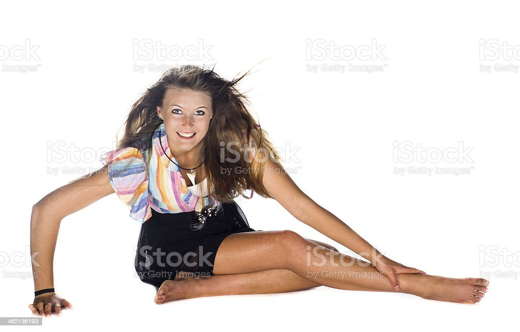 Mastering the pose stock photo