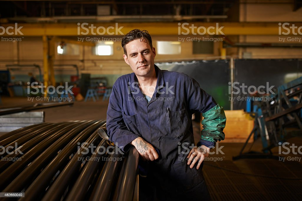 Mastering the trade of welding stock photo