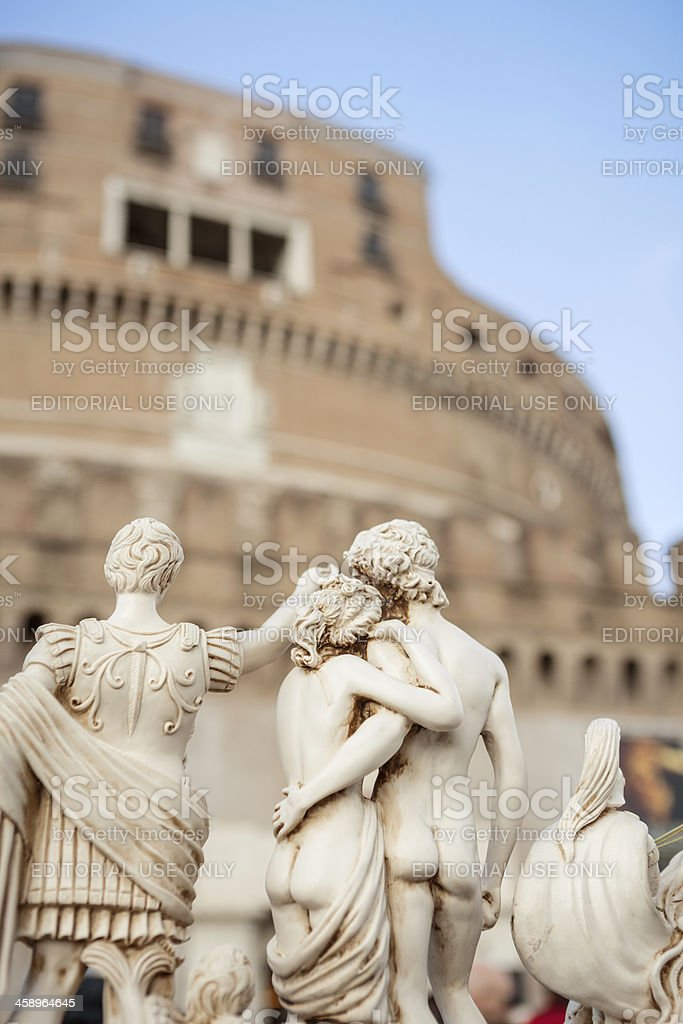 Masterpieces Reproductions Souvenirs from Rome and Italy royalty-free stock photo