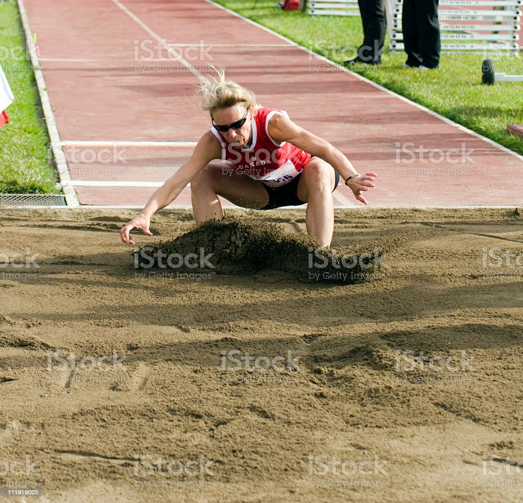 Masters Long jump athlete royalty-free stock photo