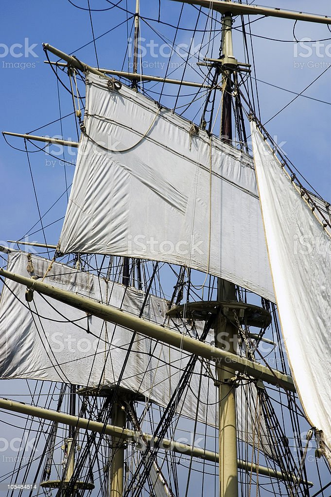Masts and Sails stock photo