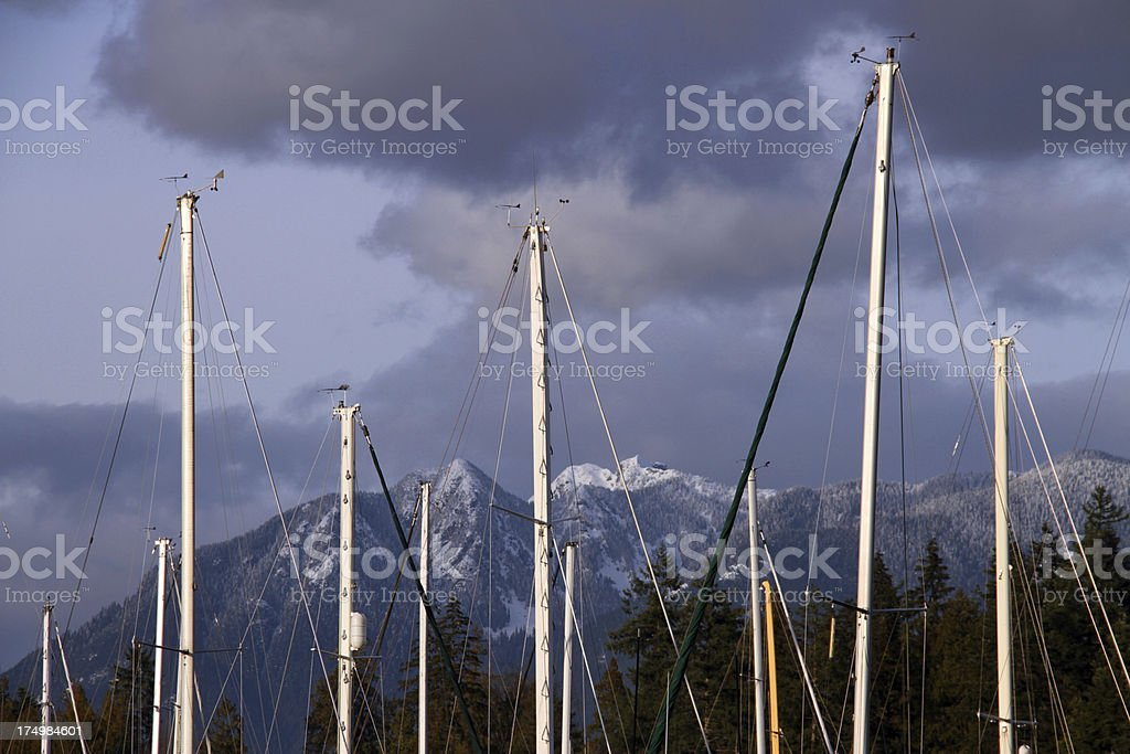 Masts and Skies royalty-free stock photo