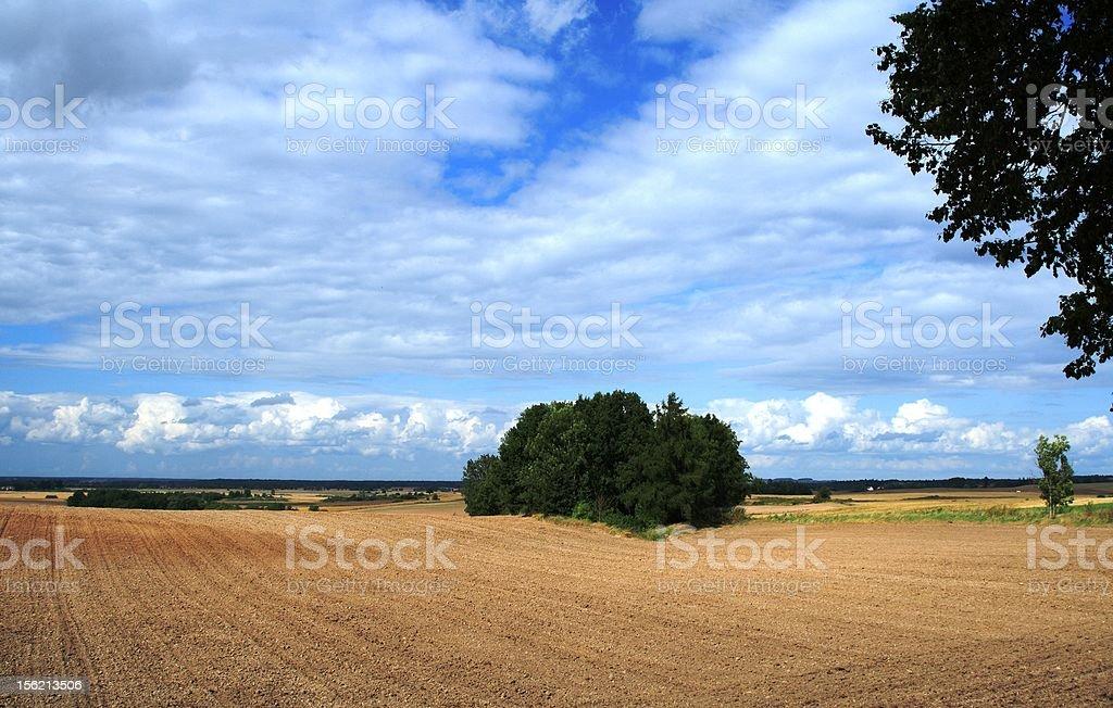 Masuria rural landscape stock photo
